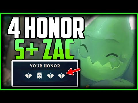 S+ 4 HONOR ZAC HYPER CARRY JUNGLE COMMENTARY | League of Legends