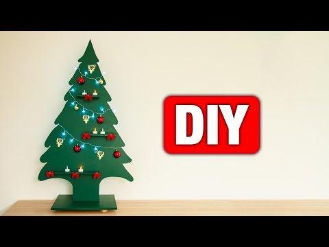 DIY - Tannenbaum aus Holz bauen 🌲 | Einfach und günstig
