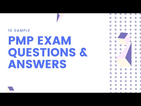 10 Sample PMP Exam Questions and Answers - YouTube