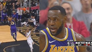 LeBron James ANGRY Dunk In Crazy Duel With Kawhi Leonard! Lakers vs Raptors