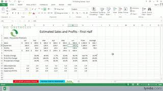 Excel 2013 tutorial: Using the Formula bar | lynda.com