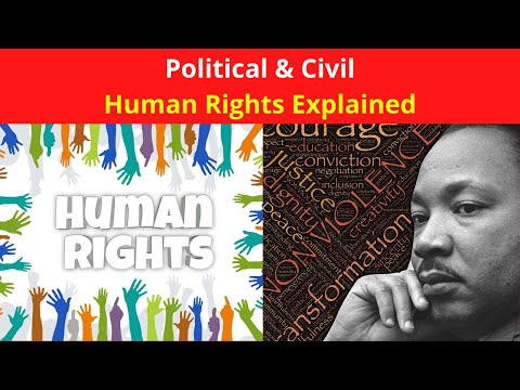 Human Rights Explained in English: Political & Civil Human Rights Definition