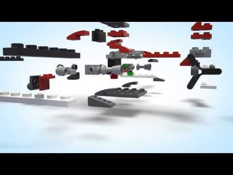 Vidéo LEGO Creator 31013 : L'hélicoptère rouge