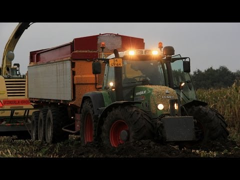 Corn harvest in Poppel (B) + Fendt in trouble!