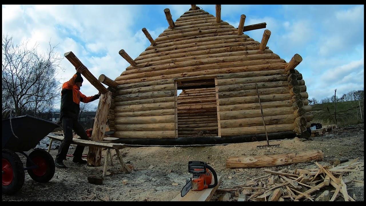 Створення давньоруського зрубу на Оствиці