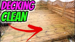Pressure washing a small decking area
