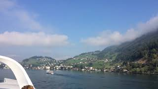スイス発 ルツェルン湖クルーズ船ディアマントからの絶景【スイス情報.com】