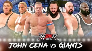 WWE 2K17 John Cena vs Giants | ELIMINATION CHAMBER Full Match PS4 Gameplay