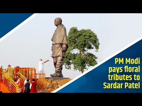 PM Modi pays floral tributes to Sardar Patel