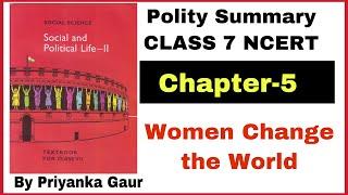 L:-5 Civics Class 7th   Women Change The World