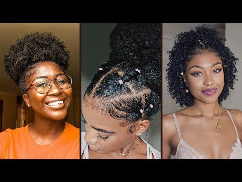 QUICK & EASY Natural Hairstyles For Black Women 💖| Natural Hairstyles Protective Styles