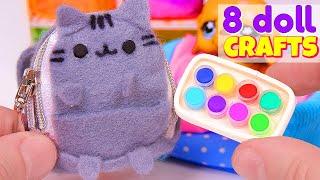 8 DIY Doll Crafts + Miniature Pusheen Backpack