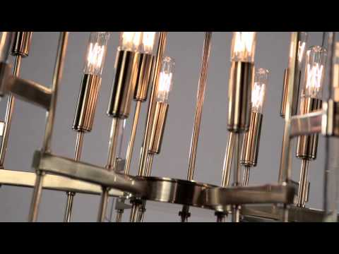 Video for Bari Aged Brass 16-Light Chandelier with Clear Glass