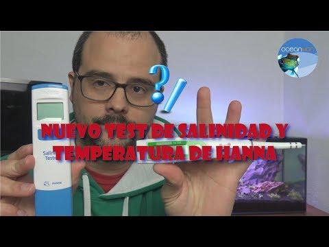 NUEVO TEST DE SALINIDAD Y TEMPERATURA DE HANNA