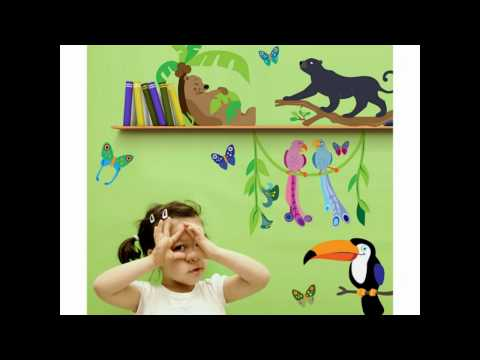 Wand Aufkleber mit Phantasie - Kinder & Spielzimmer Design