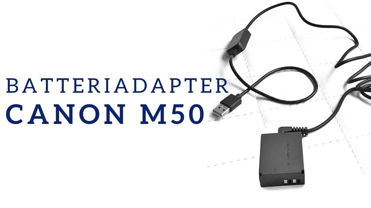 Batteriadapter for Canon EOS M50