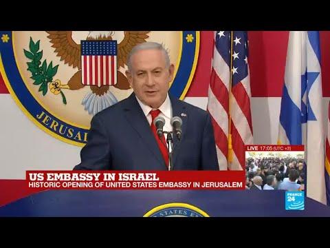 US embassy in Jerusalem: Watch Israel's PM Benjamin Netanyahu's address
