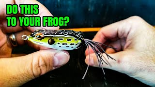 Bass Fishing for Beginners: Hollow Body Frog Selection (AND MODIFICATIONS 2018)
