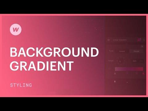 Background gradients - Webflow CSS tutorial