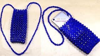 পুতির মোবাইল ব্যাগ/ How to make beaded mobile bag/ beaded bag