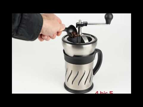 Paris Press - Kombinierte Kaffeemühle une Pressfilter-Kaffeekanne