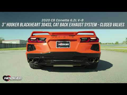 Hooker BlackHeart Introduces 3in Cat-Back Exhaust System for Chevrolet C8 Corvette