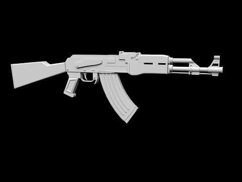 Modeling Ak 47 3ds max tutorial part – 1