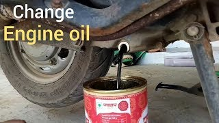 How to change engine oil Activa 3g 2017