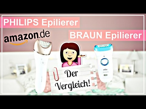 BRAUN Silk Epil 9 💥vs. PHILIPS Satinelle Pestige Deutsch 🛀 - DER EPILIERER TEST 🔍!! | Diie Jule