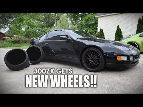 300ZX GETS SLAMMED & NEW WHEELS ! (AGGRESSIVE SETUP )
