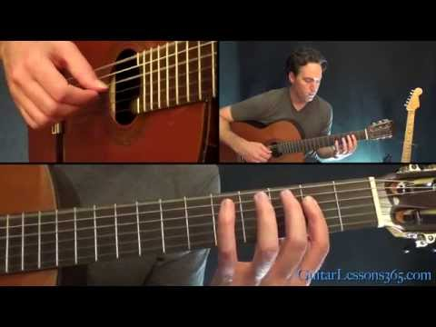 The Unforgiven Guitar Lesson - Metallica - Acoustic Guitar Parts