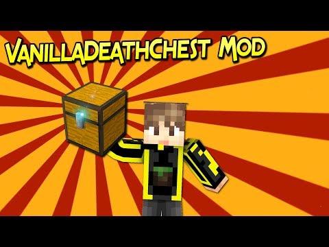 VanillaDeathChest Mod | Recuperas Tus Cosas Fácilmente | Minecraft 1.12.2 | Review Español