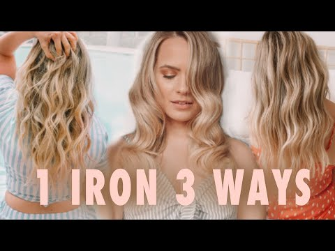 1 Curling Iron 3 Totally Different Curls & Waves - Kayley Melissa