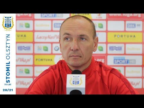 Konferencja prasowa po meczu Stomil Olsztyn - Arka Gdynia