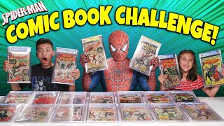 SPIDER-MAN COMIC BOOK CHALLENGE!!! Most Valuable Spider-Man Comics Collection Battle!