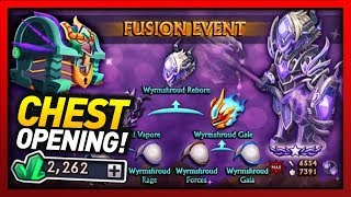 Knights and Dragons - CRAZY 450+ Chests Opening!! 2k GEMS FUSION EVENT MADNESS w/Tons of df fusions!