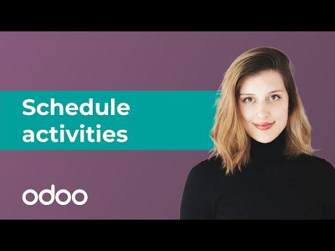 Schedule activities in odoo | odoo Basics