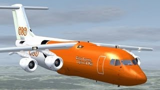 preview picture of video 'FSX HD BAe 146 take off & download'