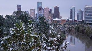 Snow In Houston!