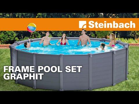 Erklärungsvideo zu Frame Pool Graphit Ø 478 x 124 cm