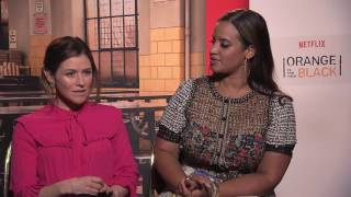 Dascha Polanco & Yael Stone on girl crushes & acting - Orange is the new black season 4 June 2016