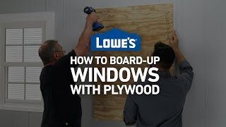 How To Board Up Windows with Plywood | Severe Weather Guide