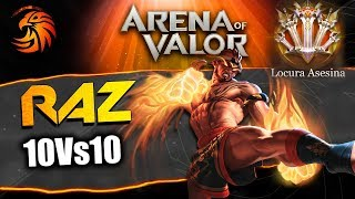 AoV Locura En 10 Vs 10 Con RAZ | Arena Of Valor | DayMelto Gameplay Español