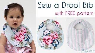 Sew a Baby Bib - Make a drool bib