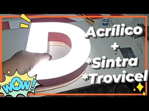 Letra CORPÓREA 100% Acrilico|| de Principio a Fin .(contraletra de PVC y LED)