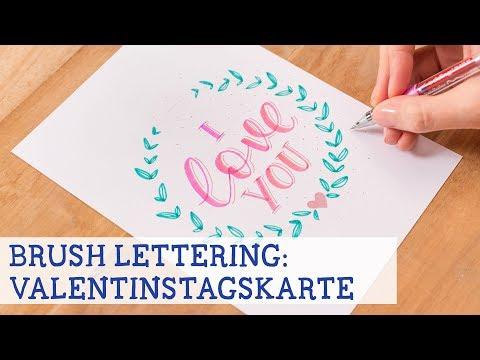 Lettering & Colouring: Romantische Valentinstagskarte illustrieren - Teil 2