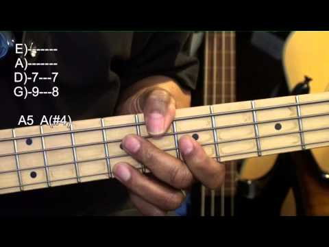 How To Play Cool Bass Guitar Chords Along With Slap Tutorial Lesson EricBlackmonMusicHD