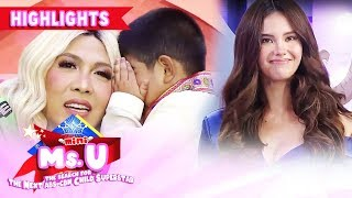 Yorme whispers to Vice his secret for Catriona | It's Showtime Mini Miss U