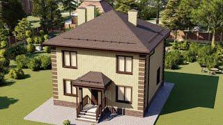 Проект дома 103-C, Площадь дома: 103 м2, Размер дома:  8,6x8,8 м