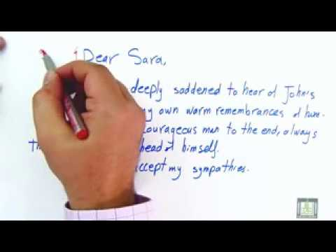 WRITING - Writing Letters Of Condolences By Study Corner Mp3